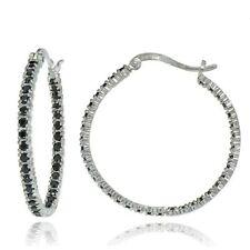 Heat & Pressure Black Sterling Silver Fine Earrings