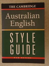 The Cambridge Australian English Style Guide Pam Peters Hardback Dust Jacket