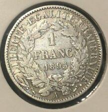 Monnaie Pièce France 1 Franc Argent Cérès 1895 A