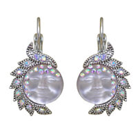 Kirks Folly Seaview Moon Goddess In Wonderland Leverback Earrings (Silvertone)