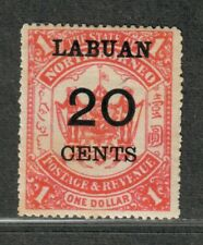 Labuan Sc#60 M/H/F-Vf, Cv. $52.50