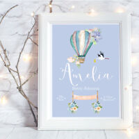 Personalised A4 Print,Baby Girl,Family,Name,Gift,Wall Art-NO FRAME