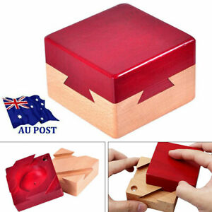 Kongming/Luban Lock Brain Teaser Secret Box for Hidden Diamond Jewelry Cash Gift