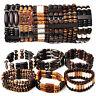 5pcs Wholesale LotS Mixed Wood Beads Stretchy Elastic Bracelets Cuff Wristband