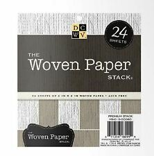 "DCWV 6"" x 6"" Cardstock Stack WOVEN - SOLID TEXTURED ~ 24ct.  ~ MS-019-00060"