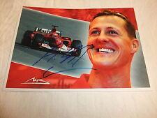 AK Autogrammkarte Foto Original Autogramm Michael Schumacher Originalautogramm