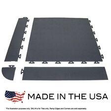Gray PVC Multi-Purpose Coin Flex Interlocking Tiles - Sample KIT- USA MADE