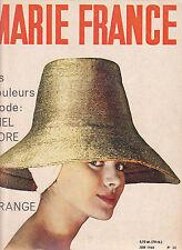 """MARIE FRANCE N°52 juin 1960 Mode vintage """"Clouzot veut changer BB"""""""