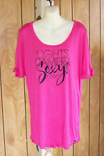 VICTORIA'S SECRET SLEEPSHIRT SUPERMODEL ESSENTIALS PINK BLING M