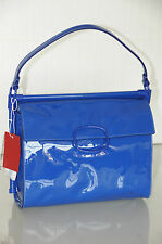 New Roger Vivier Miss VIV Medium Royal Blue  Patent shoulder Bag Carla Bruni