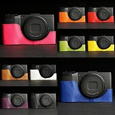 Genunie Real Leather Half Camera Case Bag Cover for Ricoh GR GR II 10 colors