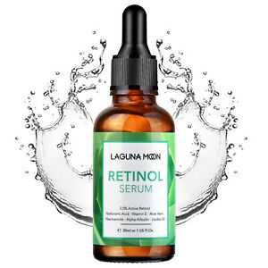 LAGUNAMOON Retinol Serum Anti Aging Reduce Wrinkle Acid Collagen Production 30ML