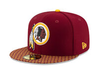New Era 59Fifty Hat Washington Redskins NFL 2017 On Field Sideline Fitted Cap