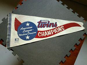 Minnesota Twins vintage 1969 (1970) AL Western Division Champions Pennant