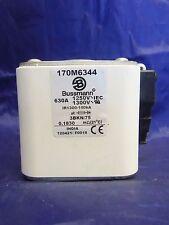 New Bussmann 170M6344 Semiconductor Fuse 630 Amp 1250/1300V