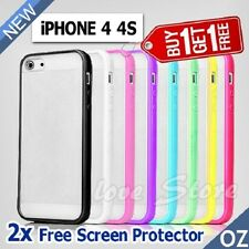 For iPhone 4 4S PC Matte Hard & Soft Gel Cover Case For Apple