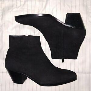 Men's High Heel Boots Genuine Suede 7UK