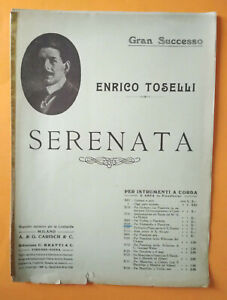 Spartito ENRICO TOSELLI Serenata Per Violoncello e Pianoforte Carish Milano