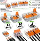 Wago Transparent 2,3,5 Splicing Wire Connector, Lever-Nuts Terminal Block (25pc)