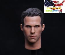 "1/6 Ryan Reynolds head for dead pool Hot toys narrow shoulder 12"" Body ❶USA❶"