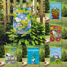 Decor Spring Time Snoopy Dog Signs Outdoor Banner/Flag Double Sided Garden Flags