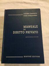 Libro Manuale Di Diritto Privato Andrea Torrente Piero Cchlesinger