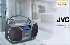 JVC RD-D228H Boombox Portable CD Player With FM Radio CD+R CD+RW Playback