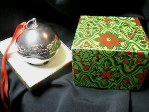 1981 WALLACE SILVERPLATE CHRISTMAS SLEIGHBELL ORNAMENT - BOXED