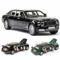 1/24 Scale Bentley Mulsanne Limousine Model Car Diecast Toy Collection Gift Boys