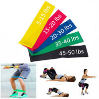 Resistance Bands Tube Workout Exercise Elastic Band Fitness Equipment Yoga US