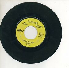 BILLY JO SPEARS 45 RPM Promo Record TIPS AND TABLES / MR. WALKER IT'S ALL OVER