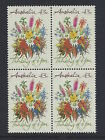 Australia 1990 Thinking of you 43c Block of 4 Stamp set