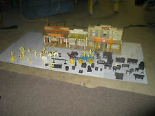 Original Marx Western town with figures and accessories