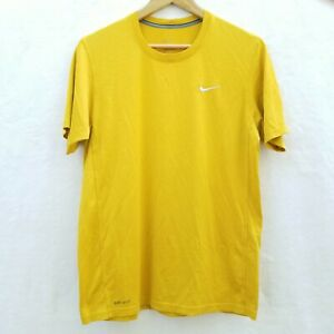 Nike Dri Fit Men's Size Medium T Shirt Crew Neck Yellow