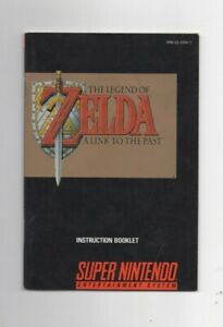 Legend of Zelda Link to the Past SNES SNS-ZL-USA-2 MANUAL ONLY Authentic