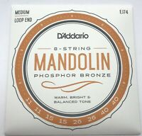 Generic Mandolin Strings Set Silver Plated Copper Loop 10-34 Set of 2