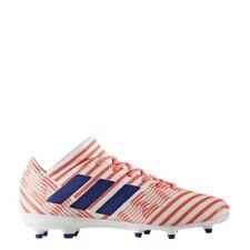 New Womens Adidas Nemeziz 17.3 FG Soccer Cleats White/Orange/Blue Size 8 M