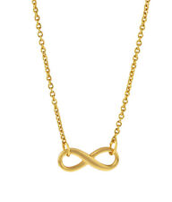 Infinity Necklace Gold Lady Women Jewelry Friend Sisters Love Christmas Gift