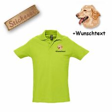 Camiseta Polo Algodón Bordado Hovawart + Texto personalizado