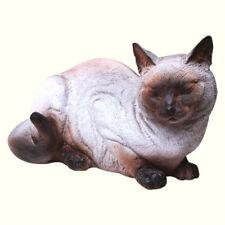 Siamese Cat Figurine Large Garden Statue Outdoor Sculpture Pet Figure Lawn Decor