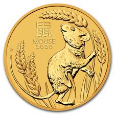 Perth Mint Australie Lunar III Année Le Souris 2020 1/10 OZ 999.9 Pièce en Or