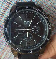 American Exchange Men Watch  Black Band Analog Wrist Watch