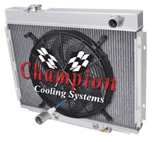 "3 Row Perf Champion Radiator W/ 16"" Fan for 1967 - 1970 Ford Mustang V8 Engine"
