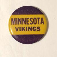 "Vintage Minnesota Vikings Pinback Button 1-3/4"" NFL Football Pin"