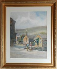 Village in Conwy. Watercolour by listed artist Arthur Netherwood, circa 1910