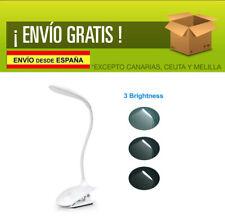 Lámpara de Escritorio LED con Pinza 3 Niveles Control táctil Carga USB
