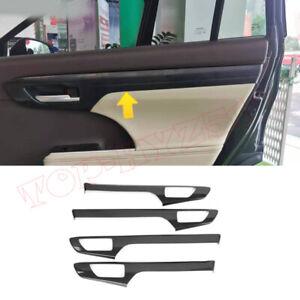 Carbon Fiber Look Inner Door Molding Cover Trim For Toyota Highlander 2020-2021