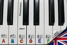 Stickers for 88 key Piano or Keyboard 52 white key kids monster clear stickers
