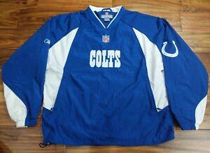 REEBOK NFL GAME WORN Indianapolis Colts Staff JACKET PULLOVER WINDBREAKER MEDIUM