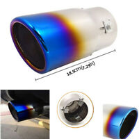 Half Blue Exhaust Muffler Car Modification 2.9in Rear Tail Pipe End Tip Silencer